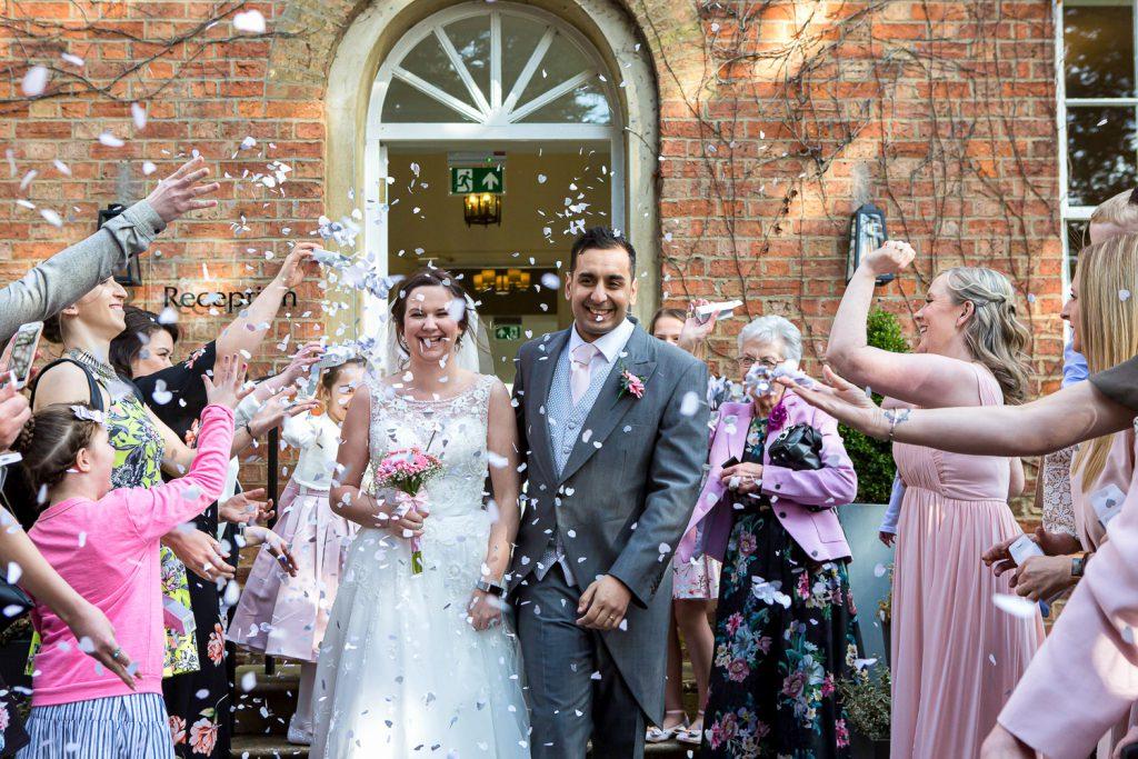 bride & groom outdoor ceremony
