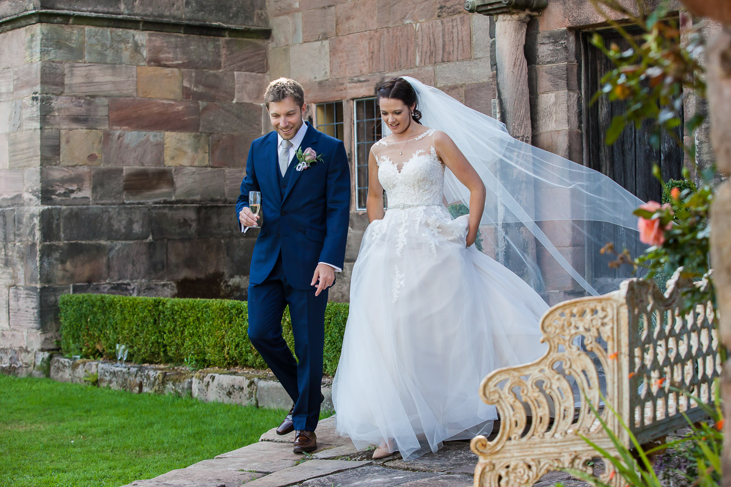 Natural Wedding Photography-Bride& Groom-The Ashes Wedding Venue