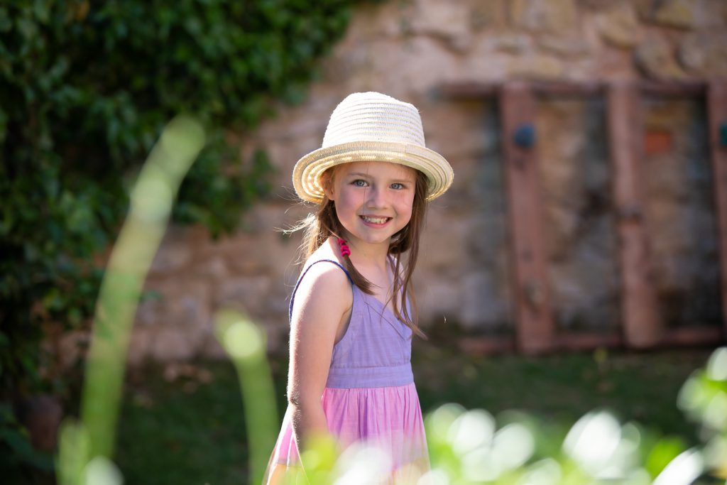 family photography girl in sunshine_