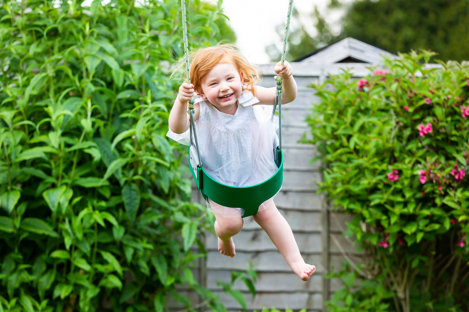 girl on swing natural family photography _